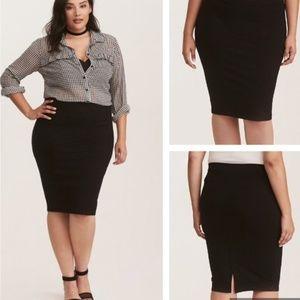 Torrid Super Tight Skinny Pencil Skirt Size 24